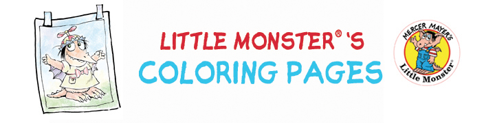 LITTLE MONSTER COLORING PAGES
